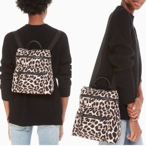 Kate Spade | Leopard Nylon Convertible Backpack
